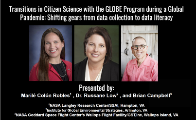 Lead presentation slide showing co-presenters Marilé Colón Robles, Dr. Russanne Low, and Brian Campbell
